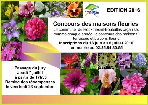 affiche concours des maisons fleuries 2016