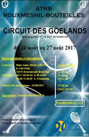 tennis circuit des goelands 2017