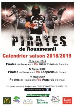 Calendrier saison 2018- 2019 - MATCHS A DOMICILE(1)