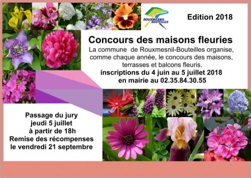 affiche concours maisons fleuries 2018