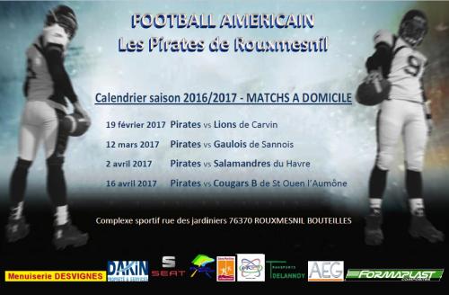 calendrier matchs 2016-17