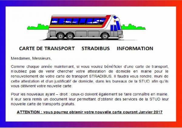 carte de bus 2017