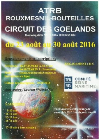 affiche du tennis circuit des goëland 2016