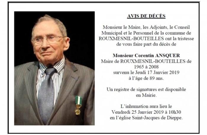 avis de décès M. Ansquer