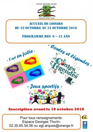 programme centre octobre 6-12 ans 2018