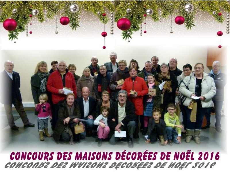 photo de groupe maisons de noël 2016