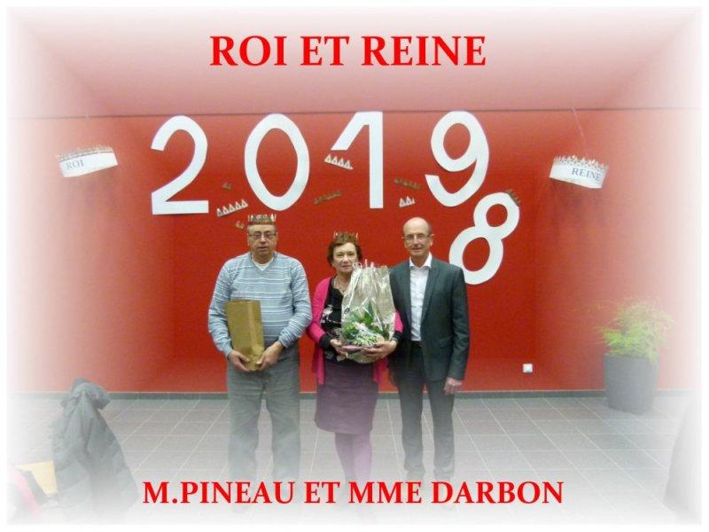roi et reine M. Pineau et Mme Darbon