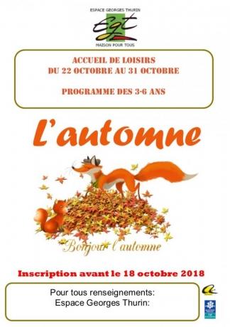 programme octobre 1